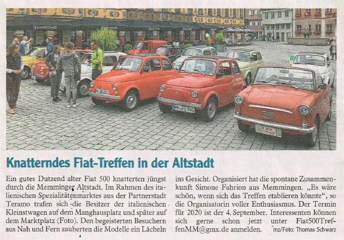 2019: Fiat Treffen in Memmingen